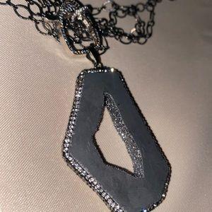 Stone embellished necklace